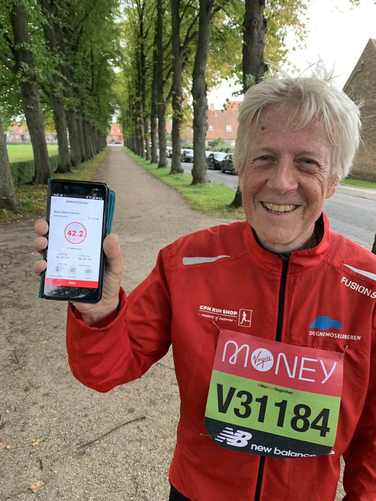 Degnemoseløber gennemfører London marathon – i Brønshøj