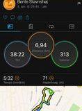 Foto af løbernes ure sakset fra FB siden